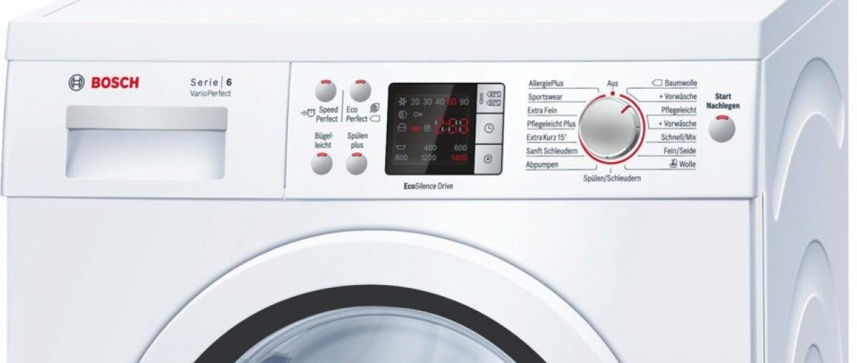 bosch waschmaschine test vergleich testberichte 2018. Black Bedroom Furniture Sets. Home Design Ideas