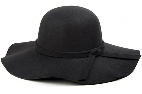 Swallowuk Damen Vintage Mode Wolle Hut Netter Bowler Hats