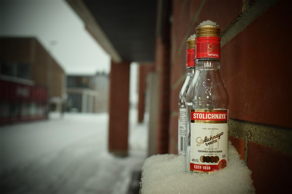 Wodka im Winter
