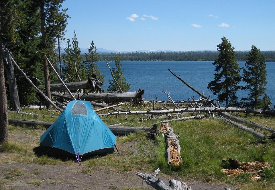 Zelt beim campen