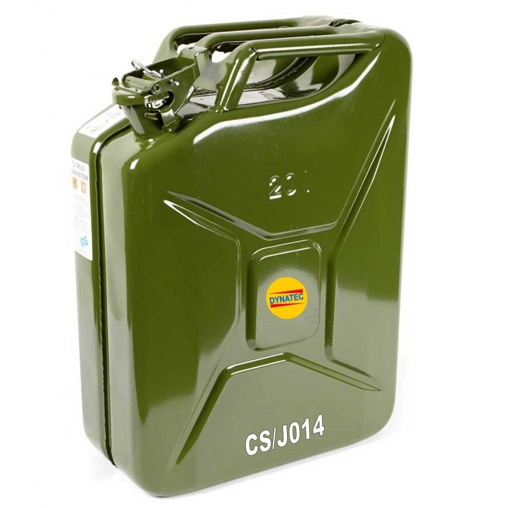 Benzinkanister Stahlblech. 20l TÜV+GS+UN-geprüft