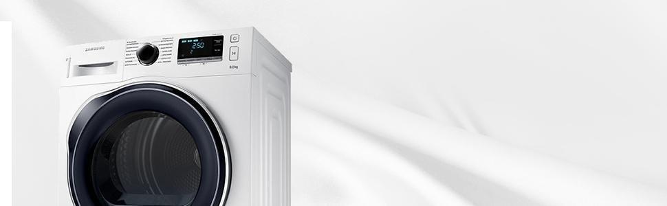 Ein Trockner der Marke Samsung steht für ein zuverlässiges und leises Trockner-Ergebnis