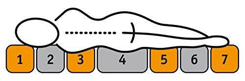 7-Zonen Tonnentaschenfederkern-Matratze