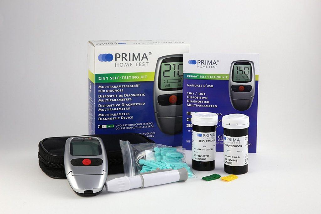 Zur Ermittlung von Cholesterin- und Triglycerid-Werten zu Hause