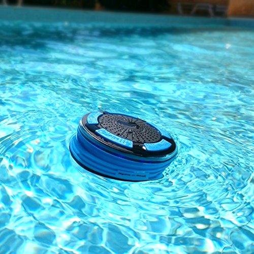 Duschradio – Hydro-Beat-Beleuchtung. IPX7 – vollständig wasserresistenter Bluetooth Radiolautsprecher mit LED- Beleuchtung. Aufladbar über Micro USB