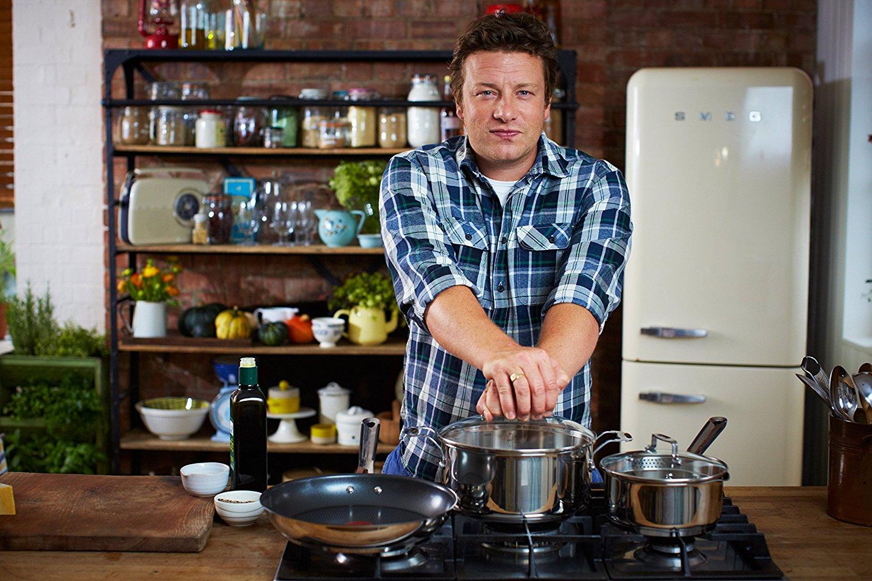 Tefal E79122 Jamie Oliver Induction Stielkasserolle mit Glasdeckel