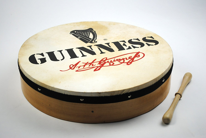 Irisch Keltisch Guinness Bodhran - Trommel mit Schläger