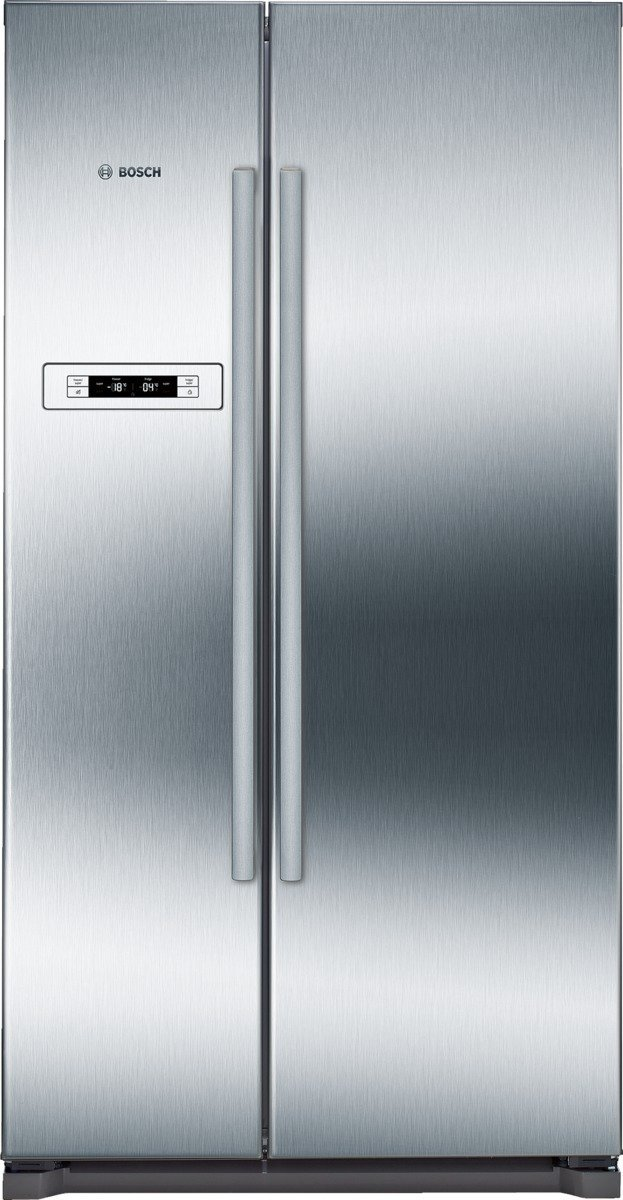Bosch Side-by-Side Kühlgefrierkombination KAN90VI30 Die NoFrost side-by-side Kühl-Gefrier-Kombination mit Indoor Elektronik: bietet Ihnen ein modernes Tür-Display u. erspart das Abtauen.
