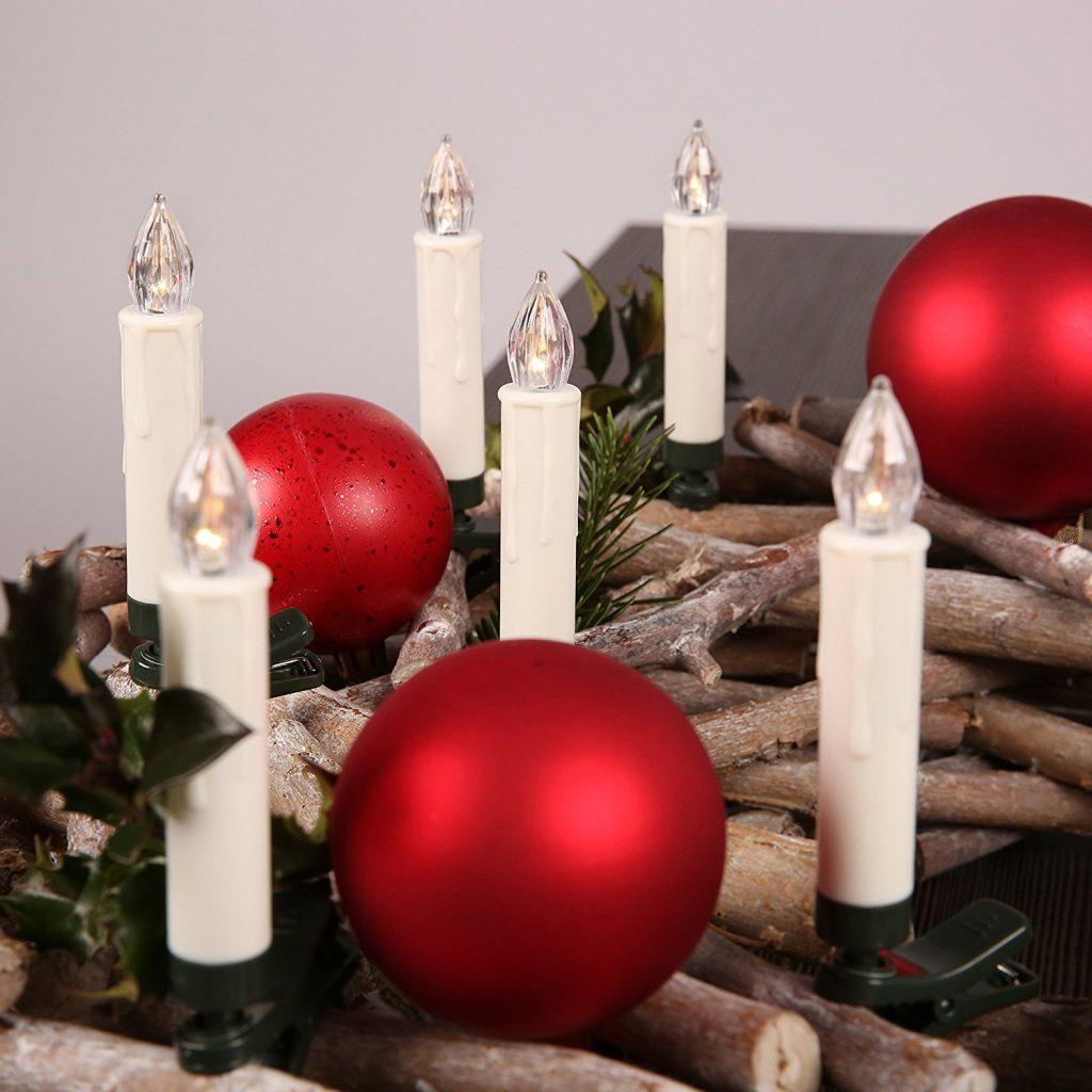 LED Kerzen - flammenlose Weihnachtskerzen
