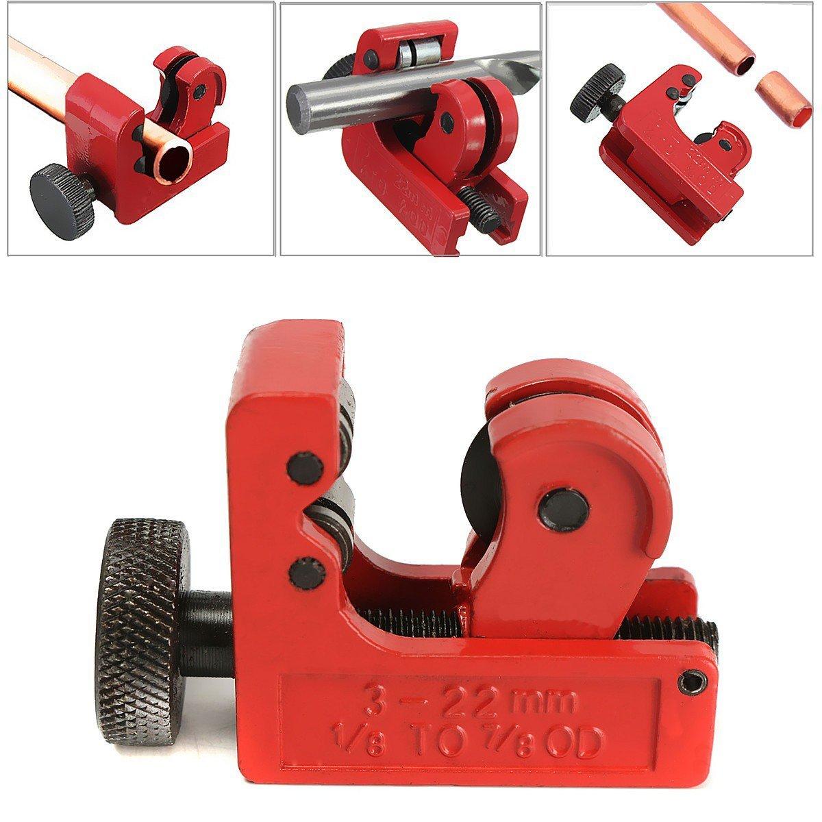 Mini-Rohrschneider: Sie eignen sich hervorragend zum Schneiden von Rohren aus Kupfer, Messing, PVC, Kunststoffrohren, Aluminium und vieles mehr
